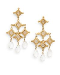 Stephanie Kantis | Metallic White Quartz Briolette Venetian Chandelier Earrings | Lyst