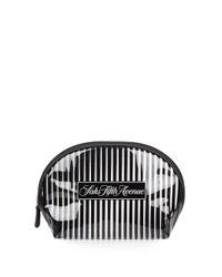 Saks Fifth Avenue | Black Signature Striped Cosmetic Case | Lyst