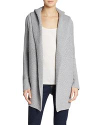Vince | Natural Honeycomb-stitched Cardigan | Lyst