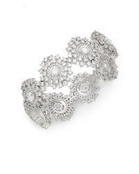 Adriana Orsini - Metallic Sweet Embrace Cluster Stone Bracelet - Lyst