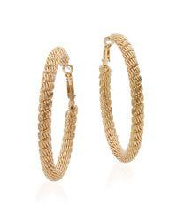 Saks Fifth Avenue | Metallic Mesh Hoop Earrings/goldtone | Lyst