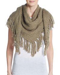 Modena - Brown Knit Scarf - Lyst