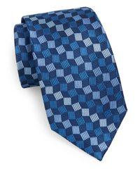Burma Bibas - Blue Geo Silk Tie for Men - Lyst