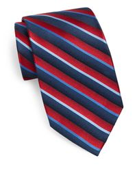 Burma Bibas | Blue Striped Silk Tie for Men | Lyst