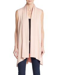 Calvin Klein | Pink Flyaway Open-front Sweater Vest | Lyst