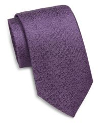 Saks Fifth Avenue - Purple Silk Tonal Textured Tie for Men - Lyst