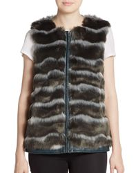 Catherine Malandrino | Gray Pepper Faux Fur Vest | Lyst