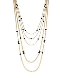 Saks Fifth Avenue | Metallic Multi-strand Beaded Chain Necklace | Lyst