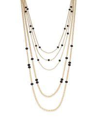 Saks Fifth Avenue   Metallic Multi-strand Beaded Chain Necklace   Lyst