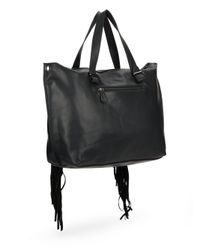 Steve Madden - Black Blucyy Fringe Shoulder Bag - Lyst