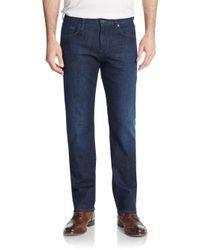 7 For All Mankind | Blue Carsen Straight-leg Jeans for Men | Lyst