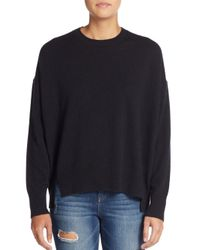 Marc By Marc Jacobs | Black Cropped Cashmere Sweater | Lyst