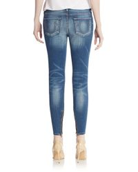 True Religion - Blue Halle Super Skinny Jeans - Lyst