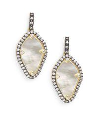 Freida Rothman - Metallic Mother-of-pearl & 14k Vermeil Geometric Drop Earrings - Lyst