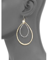 Alexis Bittar - Metallic Oval Hoop Earrings - Lyst