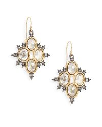 Alexis Bittar | Metallic Elements Spiked Crystal Drop Earrings | Lyst