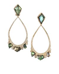 Alexis Bittar | Metallic Miss Havisham Liquid Black Mother-of-pearl & Crystal Clip-on Teardrop Earrings | Lyst