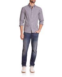 Michael Kors | Blue Grant Tailored Plaid Shirt for Men | Lyst