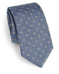 Saks Fifth Avenue - Blue Floral Print Silk Tie for Men - Lyst