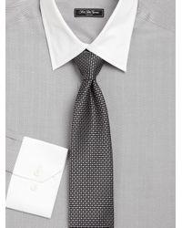Saks Fifth Avenue   Gray Regular-fit Cotton Dress Shirt for Men   Lyst