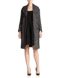 DSquared² - Black Herringbone Double-breasted Coat - Lyst