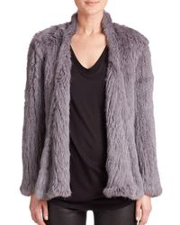 Nicholas - Gray Rabbit Fur Jacket - Lyst