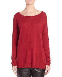 VINCE | Red Wool-blend Crewneck Sweater | Lyst