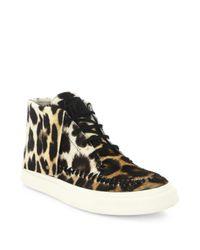 Giuseppe Zanotti | Multicolor Leopard-print Calf Hair High-top Sneakers | Lyst