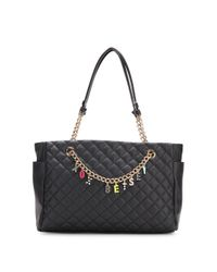 Betsey Johnson | Black Give Me A B Quilted Satchel | Lyst