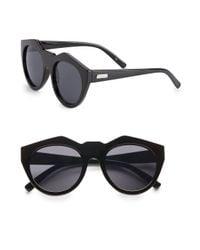 Le Specs - Black 55mm Oversized Sunglasses - Lyst