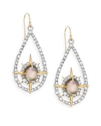 Alexis Bittar | Metallic Elements Crystal & Black Mother-of-pearl Doublet Drop Earrings | Lyst
