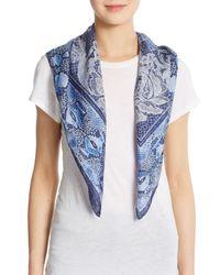 Roberto Cavalli | Blue Silk Lace & Python-print Scarf | Lyst