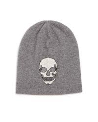 360cashmere - Gray Birdman Skull Cashmere Beanie - Lyst