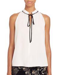 A.L.C. - White Ivy Tie-neck Top - Lyst
