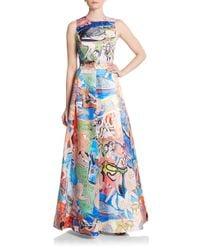 Alice + Olivia | Natural Trisha Printed Gown | Lyst