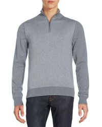 Saks Fifth Avenue | Gray Quarter-zip Merino Wool Sweater for Men | Lyst