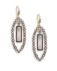 Freida Rothman | Metallic Baguette Leaf Drop Earrings | Lyst