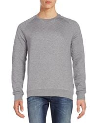 J.Lindeberg | Gray Quilted Cotton Jersey Sweater for Men | Lyst