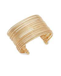 Punch - Metallic Multi-strand Cuff Bracelet - Lyst
