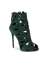 Giuseppe Zanotti | Green Clover Suede Cuttout Heels | Lyst