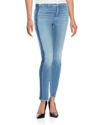 VINCE | Blue Frayed Ankle Jeans | Lyst