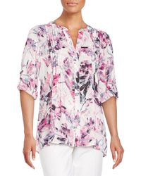 Chaus New York | Pink Floral Breeze Blouse | Lyst