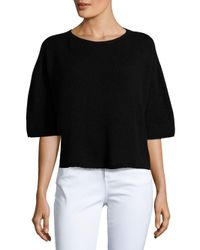 Helmut Lang - Black Cashmere Crop Sweater - Lyst