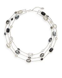 Swarovski - Metallic Pamela Crystal Layered Station Necklace - Lyst