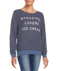 Wildfox | Blue Magazines Graphic Sweatshirt | Lyst