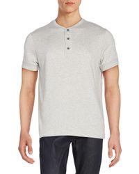 Ralph Lauren Black Label | Gray Button Front Cotton Polo for Men | Lyst