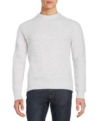 Saks Fifth Avenue | White Rib-knit Cashmere Sweater for Men | Lyst