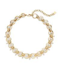 DANNIJO - Metallic Capote Swarovski Crystal & Goldplated Necklace - Lyst