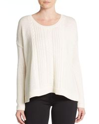 Alice + Olivia | Natural Cable-knit Wool Sweater | Lyst