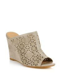 Joie | Natural Anita Open Toe Leather Wedge Sandals | Lyst